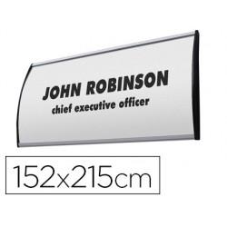Identificador mural jansen curvo din a5 perfil alumino 152x215 mm