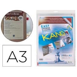 Bolsa de apresentacao tarifold adesiva removivel din a3 com esquina magnetica capacidade para 10 folhas pack de 2 unidad
