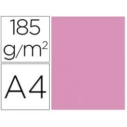 Cartolina guarro din a4 rosa chiclet 185 gr pack de 50 f