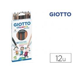 Lapis de cores giotto stilnovo aguarelaveis skin tones caixa de 12 cores