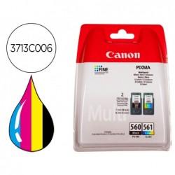 Tinteiro canon 560 pixma ts5350 / ts5351 / ts5352 / ts5353 pack preto amarelo cian magenta 180 paginas