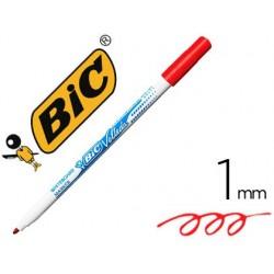 Marcador bic velleda fino para quadro ponta redonda 1 mm vermelho