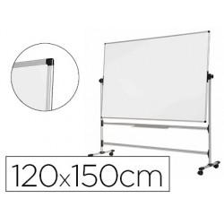 Quadro branco bi-office de aco vitrifricado dupla face 120x150 cm
