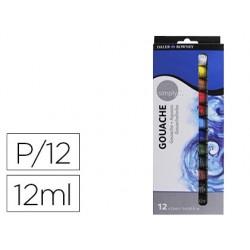 Pintura gouache daler rowney simply caixa de 12 cores sortidas tubo de 12 ml