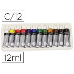 Pintura acrilica daler rowney simply caixa de 12 cores sortidas tubo de 12 ml
