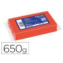 Plasticina pelikan nakiplast 681 vermelho 650 gr