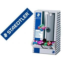 Apara lapis staedtler metalico 1 uso expositor de secretaria 100 unidades cores metalizadas sortidas