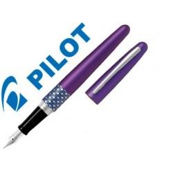 Caneta pilot urban mr retro pop violeta com estojo
