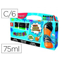 Guache maped color peps ultra lavavel caixa de 6 cores sortidas secundarios 75 ml