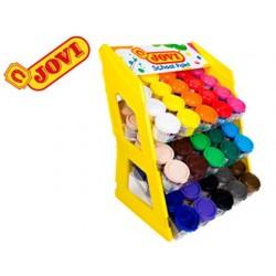 Guache escolar jovi 35 ml expositor de secretaria de 100 unidades cores sortidas