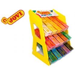 Plasticina jovi 70 expositor de secretaria 180 unidades cores sortidas