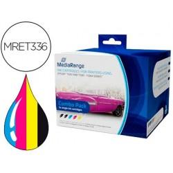 Tinteiro mediarange compativel epson t3351/t3361 / t3364 multipack de 5 unidades preto(2) / amarelo / cian / magenta