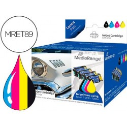 Tinteiro mediarange compativel epson t0891/t0894 multipack de 5 unidades preto(2) / amarelo / cian / magenta