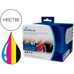 Tinteiro mediarange compativel epson t1811/t1814 multipack de 5 unidades preto(2) / amarelo / cian / magenta