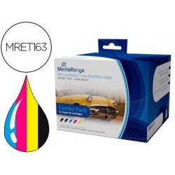 Tinteiro mediarange compativel epson t1631/t1634 multipack de 5 unidades preto(2) / amarelo / cian / magenta