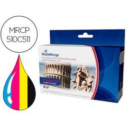 Tinteiro mediarange compativel canon pg-510/cl-511 pack de 2 unidades preto / tricolor
