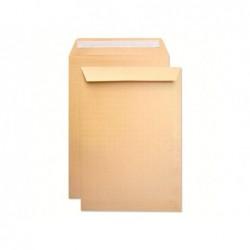 Envelope bolsa seguranca kraft castanho 229x324 mm tira de silicone pack de 100 unidades