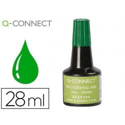 Tinta para almofada q-connect verde frasco 28 ml