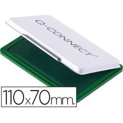 Almofada para carimbo q-connect 110x70 mm verde