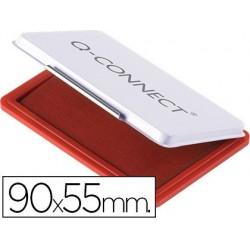 Almofada para carimbo q-connect 90x55 mm vermelho