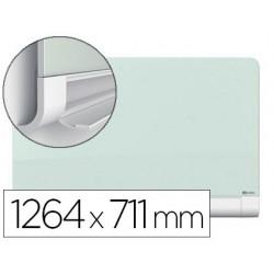 Quadro branco nobo diamond cristal magnetica esquinas redondas 1264x711 mm