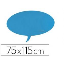 Quadro rocada dialogo lacada magnetica sem moldura azul 75x115 cm