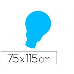 Quadro rocada com lampada lacada e magnetico sem moldura azul 75x115 cm