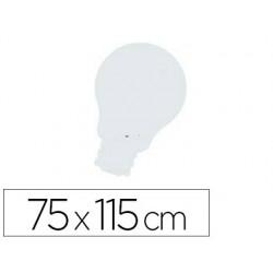 Quadro rocada com lampada lacado e magnetico sem moldura branca 75x115 cm