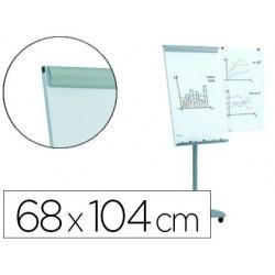 Quadro branco rocada para conferencias metalica magnetica com rodas 68x104 cm inclui 2 bracos laterais
