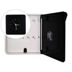 Armario plastico porta chaves paperflow com relogio para 12 chaves 320x60x320 mm preto