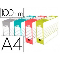 Caixa para arquivo definitivo elba din a4 lombada 100 mm cores sortidas