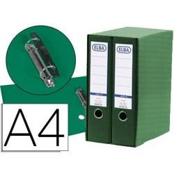 Modulo elba 2 pasta de arquivo de alavanca din a4 com rado 2 aneis verde lombada de 80 mm