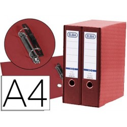 Modulo elba 2 pasta de arquivo de alavanca din a4 com rado 2 aneis vermelho lombada de 80 mm