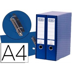 Modulo elba 2 pasta de arquivo de alavanca din a4 com rado 2 aneis azul lombada de 80 mm