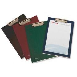 Porta notas pardo cartao forrado pvc folio com miniclip metalico bordeaux