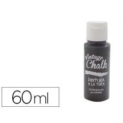 Pintura de acrilico vintage chalk efeito giz preto quadro vc-20 boiao de 60 ml