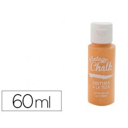 Pintura de acrilico vintage chalk efeito giz laranja vc-07 boiao de 60 ml