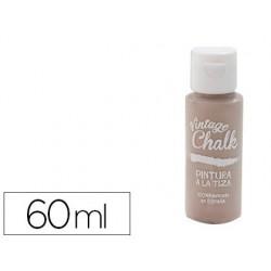 Pintura de acrilico vintage chalk efeito giz castanho caramelo vc-19 boiao de 60 ml