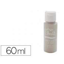 Pintura de acrilico vintage chalk efeito giz cinza vc-18 boiao de 60 ml