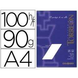 Papel torreon din a4 90 gr pack de 100 folhas branco