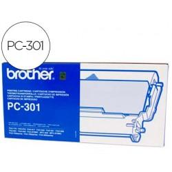 Recarga fax pc-301 brother cartucho e bobina