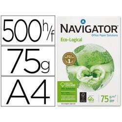Papel fotocopia navigator din a4 75 gr pack de 500 folhas