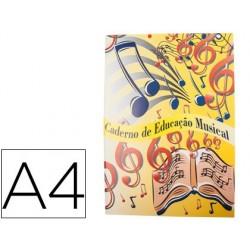 Caderno de musica din a4 agraf 60 gr 20 folhas