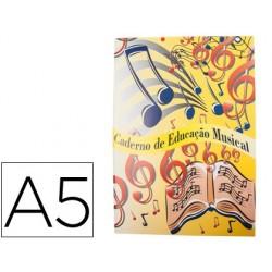 Caderno de musica din a5 agraf 60 gr 28 folhas