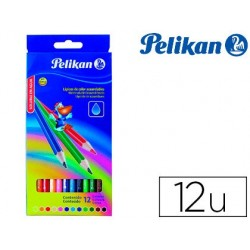 Lapis de cores pelikan aguarelaveis caixa com 12 unidades