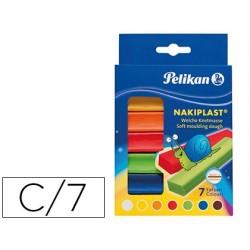 Plasticina pelikan nakiplast de 125 gr estojo de 7 cores