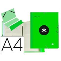 Pasta classificadora liderpapel antartik 12 departamentos de elaticos em forrado cor verde