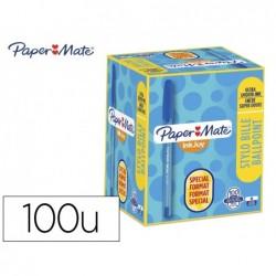 Esferografica paper mate inkjoy 100 ponta media traco 1 mm azul pack de 80 + 20 unidades