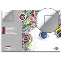 Bloco de desenho liderpapel artistico espiral 460x325mm 20 folhas 180 gr com esquadria