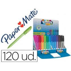 Esferografica paper mate inkjoy mini 100 ponta media expositor de 120 unidades